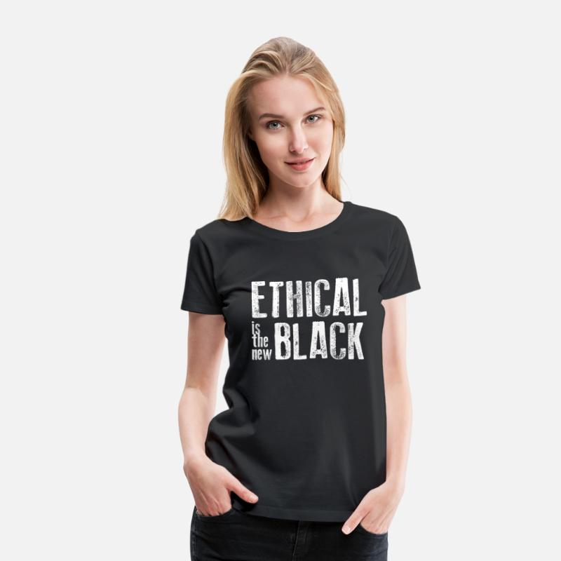 Ethical T-Shirts - Ethical is the new black - Women's Premium T-Shirt black