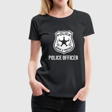 This Girl Is Protected By A Police Police officer - Serve and protect - Women's Premium T-Shirt