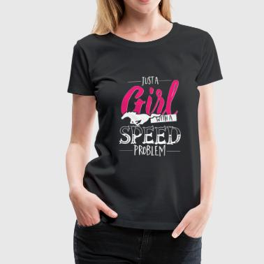 Horse - just a girl with speed problem - Women's Premium T-Shirt