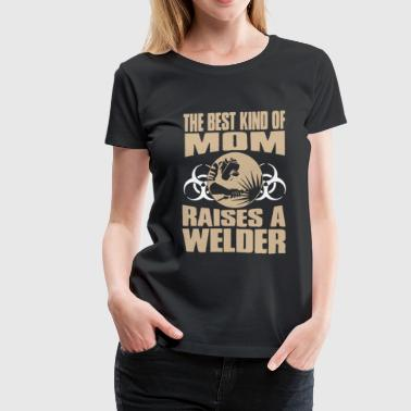 Welder Mom Shirt - Women's Premium T-Shirt
