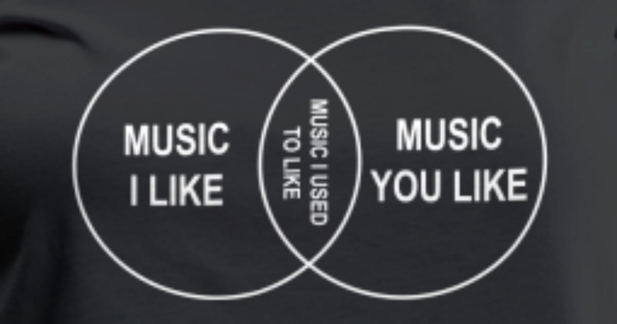 Venn Diagram Music I Like By Relief Spreadshirt