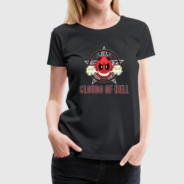 Vaping Devil - Clouds Of Hell - Women's Premium T-Shirt