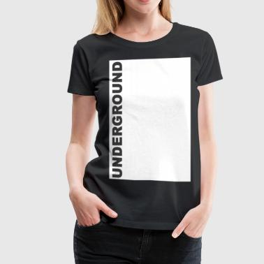 Theory Underground 1 white box - Women's Premium T-Shirt