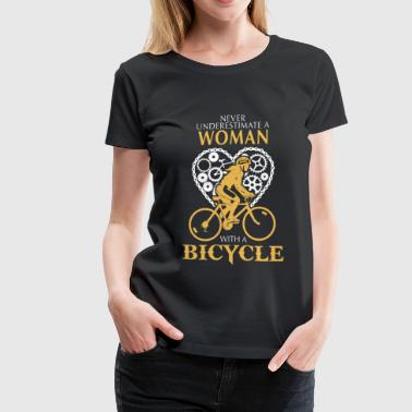 Bicycle - A woman with a bicycle awesome t-shirt - Women's Premium T-Shirt