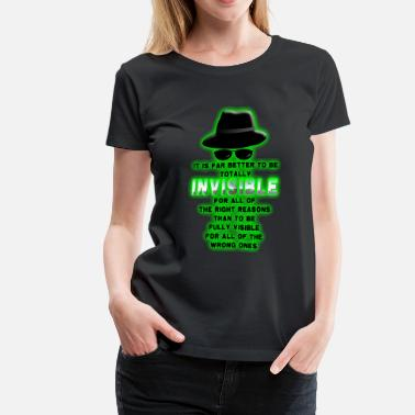 Invisible Invisible. - Women's Premium T-Shirt