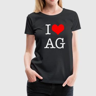 I Love AG - Women's Premium T-Shirt