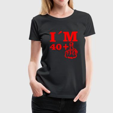 40 Plus Christmas Birthday Bday Im 40 plus 1 - Women's Premium T-Shirt