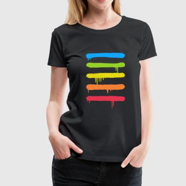 Trendy Trendy Cool Graffiti Tag Lines - Women's Premium T-Shirt