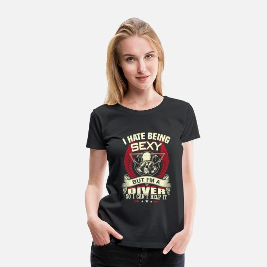 Diving T-Shirts - Diver - I'm a sexy diver freaking awesome t - shir - Women's Premium T-Shirt black
