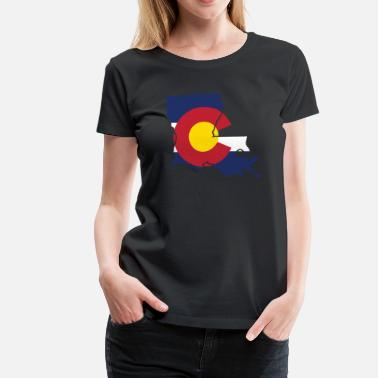 Cute Colorado Clothing Louisiana Colorado Funny Pride Flag Tshirt - Women's Premium T-Shirt