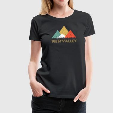 Camping Retro City of West Valley Mountain Shirt - Women's Premium T-Shirt