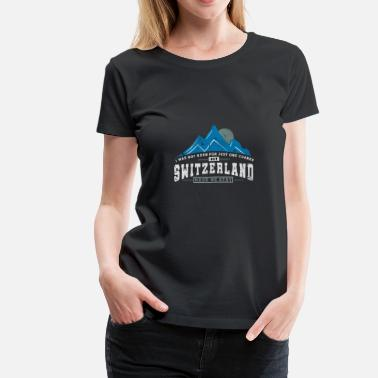 Switzerland Switzerland Mountains - Women's Premium T-Shirt