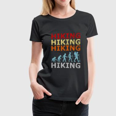Retro Vintage Style Evolution Hiking Hike Wander - Women's Premium T-Shirt