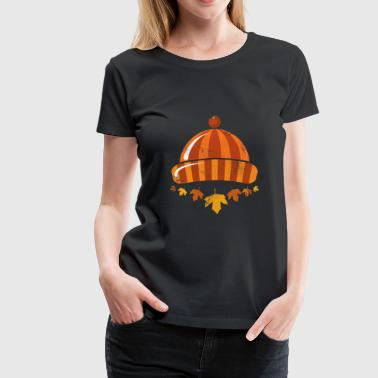 Autumn Hat Cap gift idea - Women's Premium T-Shirt