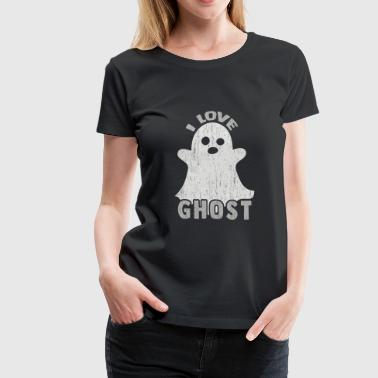 I Love Ghost Gift cute kids present halloween - Women's Premium T-Shirt