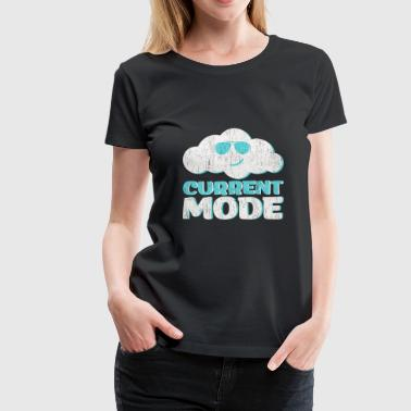 Cloudy Current Mode concealed gift funny - Women's Premium T-Shirt