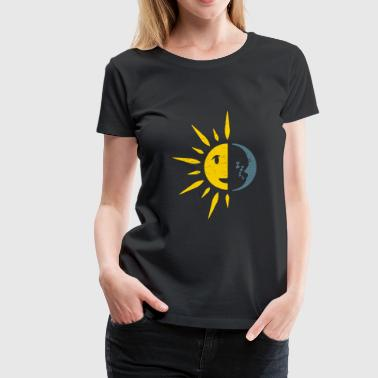 Sun Moon sky gift kids children teacher - Women's Premium T-Shirt