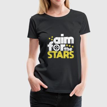 Aim for the Stars gift present quote christmas - Women's Premium T-Shirt