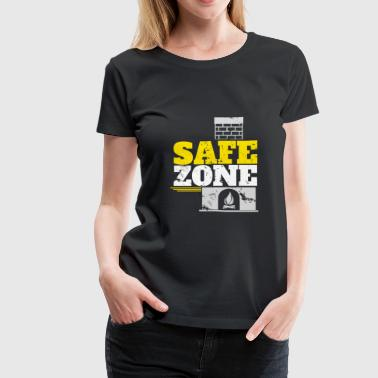 Safe Zone Chimney Santa gift idea christmas - Women's Premium T-Shirt
