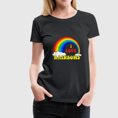 I Love Rainbows Statement gift kids christmas - Women's Premium T-Shirt