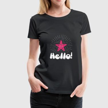 Hello Starfish first day cute illustration christm - Women's Premium T-Shirt
