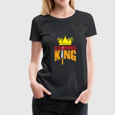 Cooking King chef christmas gift kitchen - Women's Premium T-Shirt