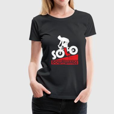 Solo Downwards Downhill Bicycle christmas - Women's Premium T-Shirt
