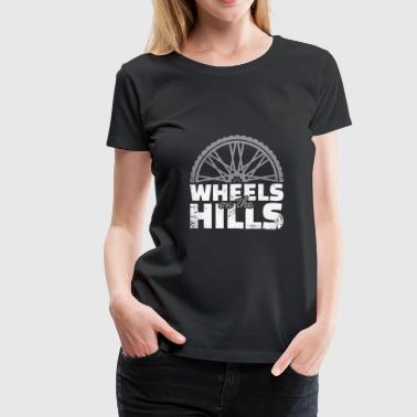 Fast-bikes Wheels on the Hills Downhill christmas gift cyclis - Women's Premium T-Shirt