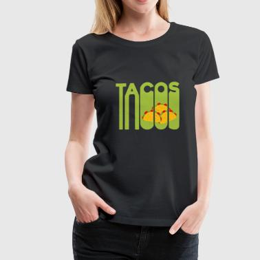 Meat- Eating Taco Fast food Christmas gift Mexican - Women's Premium T-Shirt