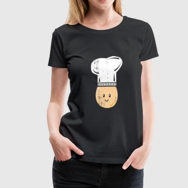 Gift For Chef Egg with Chefs hat funny kids gift Christmas - Women's Premium T-Shirt
