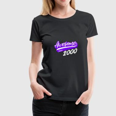 18 Years Of Awesome Awesome since 2000 18th birthday gift - Women's Premium T-Shirt