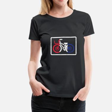 Bicycle Flag France Bicycle French Bike Gift Christmas - Women's Premium T-Shirt