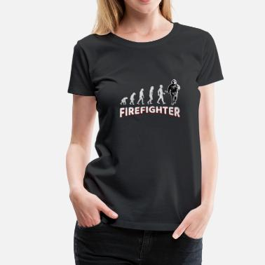 Fire Fighter Job Evolution Firefighter Fire Department Fireman Gift - Women's Premium T-Shirt