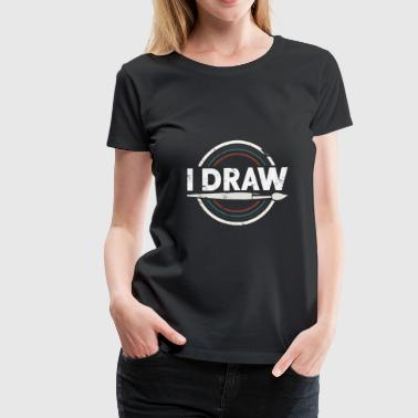 Museum I Draw gift Christmas birthday kids painting - Women's Premium T-Shirt
