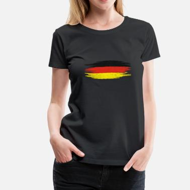 Brush Vintage Retro Brushed Flag Germany Gift - Women's Premium T-Shirt