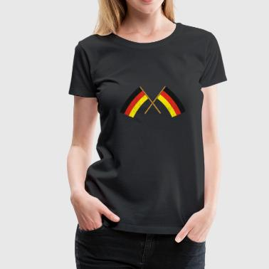 Crossing Two crossed German Flags Gift Christmas - Women's Premium T-Shirt