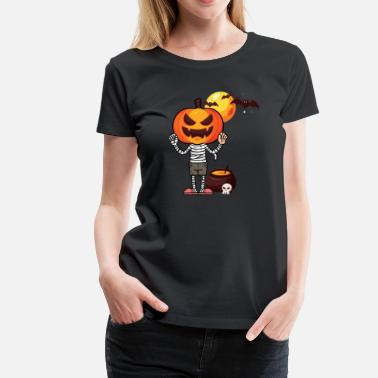 Halloween Pumpkin Cauldron Gift - Women's Premium T-Shirt