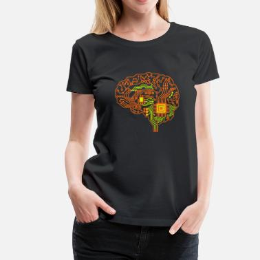 Circuit Brain - Women's Premium T-Shirt