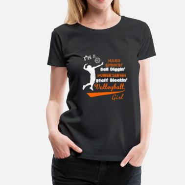 Fuck Championship Volleyball - I'm a staff blocking volleyball girl - Women's Premium T-Shirt