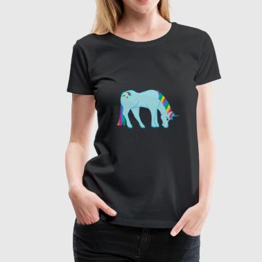 Mythical Creature glittery rainbow unicorn mythical creature fable - Women's Premium T-Shirt