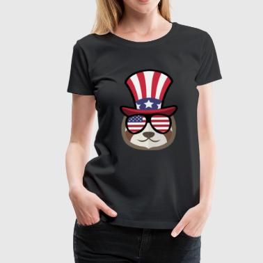 Sloth Happy 4th Of July - Women's Premium T-Shirt