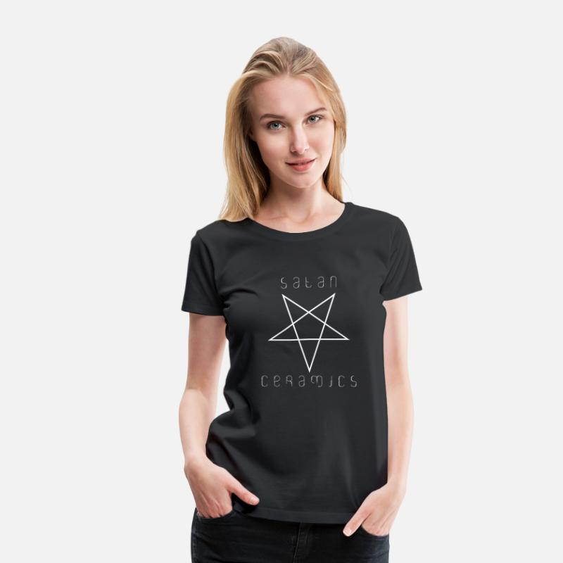 Funny T-Shirts - satan ceramics - Women's Premium T-Shirt black
