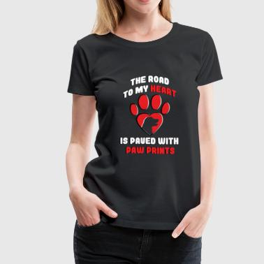 Dog paw print puppy - Women's Premium T-Shirt