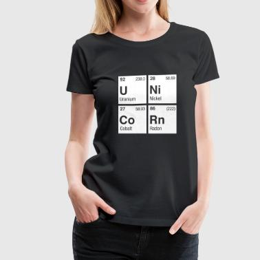 Shop periodic table t shirts online spreadshirt unicorn periodic table womens premium t shirt urtaz Choice Image