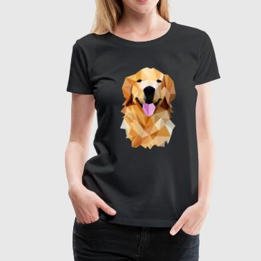 Golden retriever poligonal - Women's Premium T-Shirt