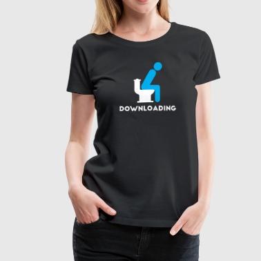 Downloading...		 - Women's Premium T-Shirt