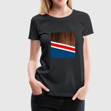 Brown Stripes Wooden stripes - Women's Premium T-Shirt