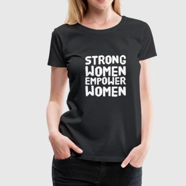 Chris Brown Womens-fitted-v-necks Women - Strong women empower women - Women's Premium T-Shirt