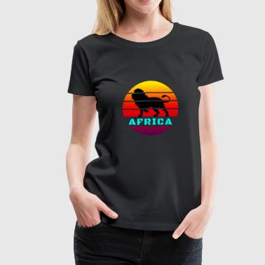 Morocco Africa Circle Lion / Gift Africa Wilderness - Women's Premium T-Shirt