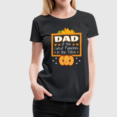 Cute Donkey Dad of the Cutest Pumpkins in the Patch Cute Graphic - Women's Premium T-Shirt
